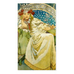 Alphonse Mucha Princess Hyacinth Art Nouveau Business Card