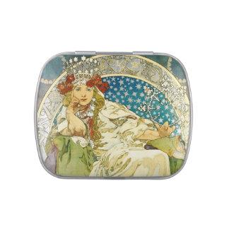 Alphonse Mucha Princess Hyacinth Art Nouveau Candy Tins