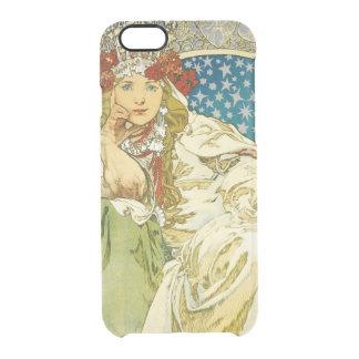 Alphonse Mucha Princess Hyacinth Art Nouveau Clear iPhone 6/6S Case