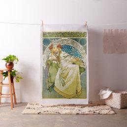 Alphonse Mucha Princess Hyacinth Art Nouveau Fabric