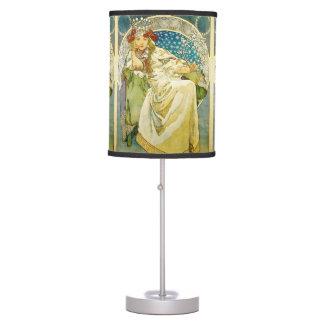 Alphonse Mucha Princess Hyacinth Art Nouveau Table Lamp