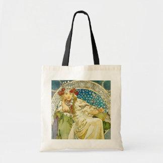 Alphonse Mucha Princess Hyacinth Art Nouveau Tote Bag