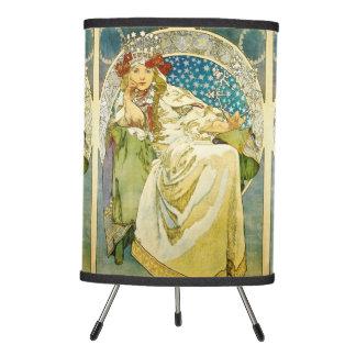 Alphonse Mucha Princess Hyacinth Art Nouveau Tripod Lamp