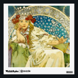 """Alphonse Mucha Princess Hyacinth Art Nouveau Wall Sticker<br><div class=""""desc"""">Alphonse Mucha Princess Hyacinth Vintage Fine Art A beautiful Art Nouveau Lady. Alfons Mucha, often known in English and French as Alphonse Mucha, was a Czech Art Nouveau painter and decorative artist, known best for his distinct style. He produced many paintings, illustrations, advertisements, postcards, and designs. Princess Hyacinth is a...</div>"""