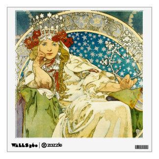 Alphonse Mucha Princess Hyacinth Art Nouveau Wall Sticker