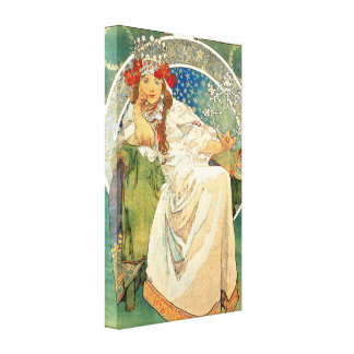 Alphonse Mucha Princess Hyacinth Canvas Poster