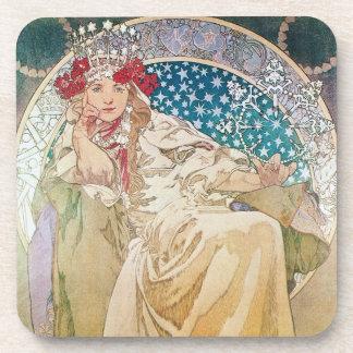Alphonse Mucha Princess Hyacinth Coaster Set