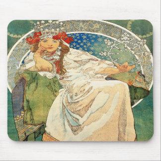 Alphonse Mucha Princess Hyacinth Mouse Pad