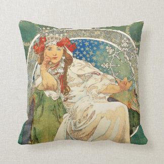 Alphonse Mucha Princess Hyacinth Pillow