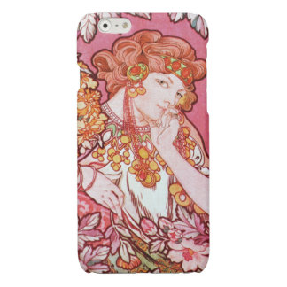 Alphonse Mucha Printemps Spring Art Nouveau Glossy iPhone 6 Case