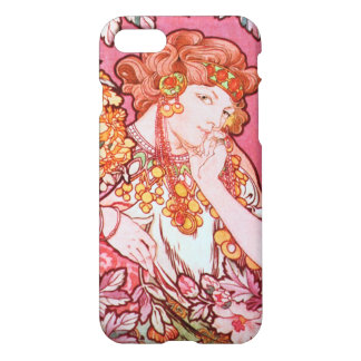Alphonse Mucha Printemps Spring Art Nouveau iPhone 7 Case