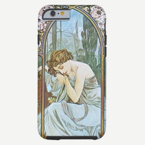 Alphonse Mucha. Repos De La Nuit/Nocturnal Slumber Tough iPhone 6 Case