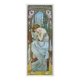 Alphonse Mucha. Repos De La Nuit/Nocturnal Slumber Poster