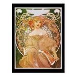 Alphonse Mucha Reverie Daydream Post Card