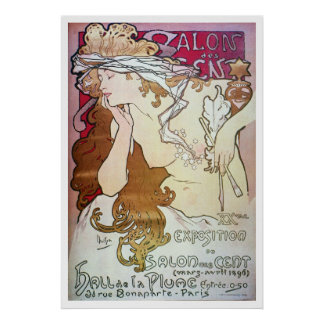 Alphonse Mucha. Salon Des Cent, 1896 Print