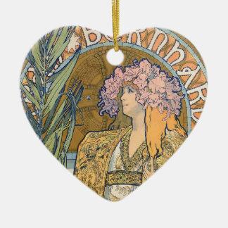 Alphonse Mucha - Sarah Bernhard Painting Ceramic Ornament
