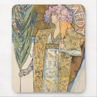 Alphonse Mucha - Sarah Bernhard Painting Mouse Pad