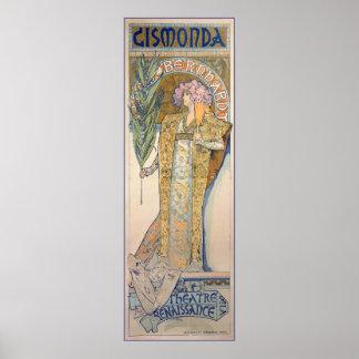 Alphonse Mucha - Sarah Bernhard Painting Poster