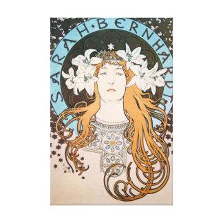 Alphonse Mucha Sarah Bernhardt Vintage Art Nouveau Canvas Prints