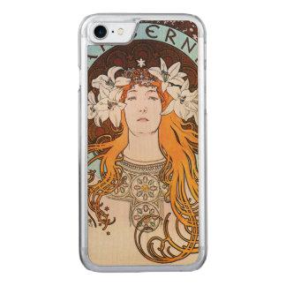 Alphonse Mucha Sarah Bernhardt Vintage Art Nouveau Carved iPhone 8/7 Case