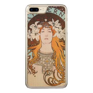 Alphonse Mucha Sarah Bernhardt Vintage Art Nouveau Carved iPhone 8 Plus/7 Plus Case