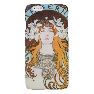 Alphonse Mucha Sarah Bernhardt Vintage Art Nouveau Glossy iPhone 6 Case