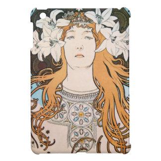 Alphonse Mucha Sarah Bernhardt Vintage Art Nouveau iPad Mini Cases