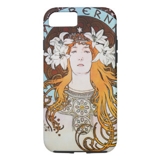 Alphonse Mucha Sarah Bernhardt Vintage Art Nouveau iPhone 8/7 Case