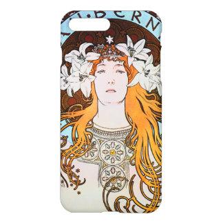 Alphonse Mucha Sarah Bernhardt Vintage Art Nouveau iPhone 8 Plus/7 Plus Case