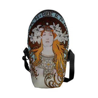 Alphonse Mucha Sarah Bernhardt Vintage Art Nouveau Messenger Bag