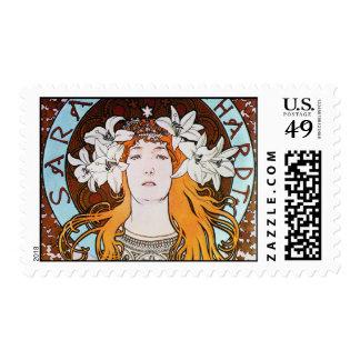 Alphonse Mucha Sarah Bernhardt Vintage Art Nouveau Postage