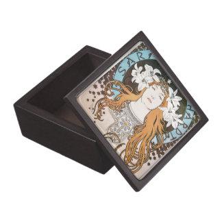 Alphonse Mucha Sarah Bernhardt Vintage Art Nouveau Premium Trinket Box