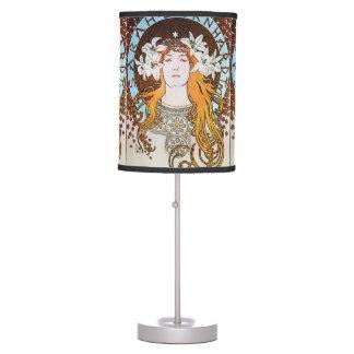 Alphonse Mucha Sarah Bernhardt Vintage Art Nouveau Table Lamp