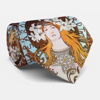 Alphonse Mucha Sarah Bernhardt Vintage Art Nouveau Tie