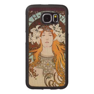 Alphonse Mucha Sarah Bernhardt Vintage Art Nouveau Wood Phone Case