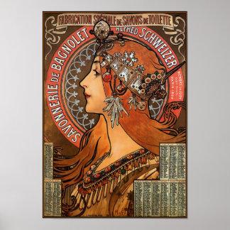 Alphonse Mucha -  Savonnerie de Bagnolet Poster