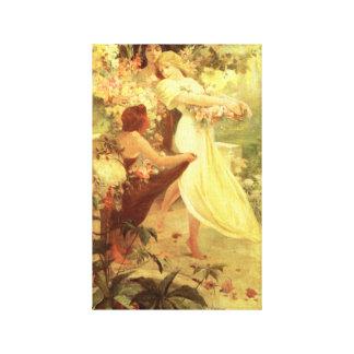 Alphonse Mucha Spirit of Spring Canvas Print