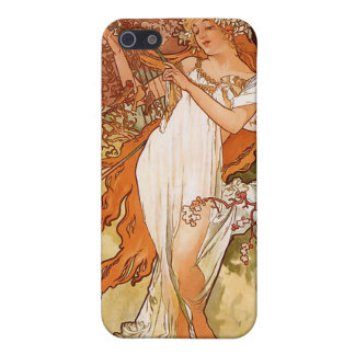 Alphonse Mucha Spring Custom iPhone Speck Case Covers For iPhone 5