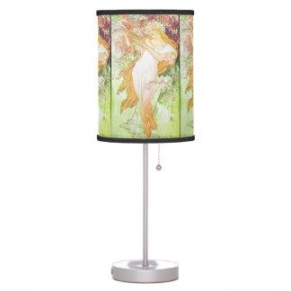 Alphonse Mucha Spring Floral Vintage Art Nouveau Desk Lamp