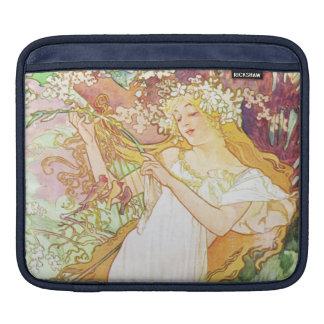 Alphonse Mucha Spring Floral Vintage Art Nouveau iPad Sleeves