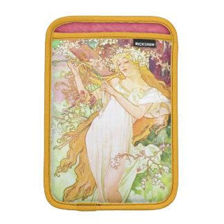 Alphonse Mucha Spring Floral Vintage Art Nouveau iPad Mini Sleeves