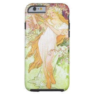 Alphonse Mucha Spring Floral Vintage Art Nouveau Tough iPhone 6 Case