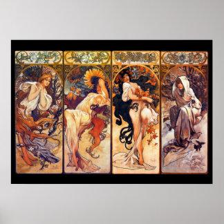 Alphonse Mucha Stunning Art Nouveau Tableau #37 Poster