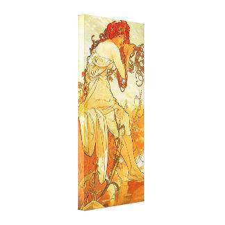 Alphonse Mucha Summer Canvas Poster