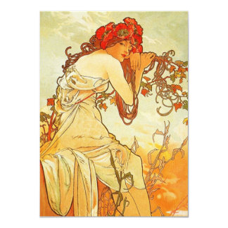 Alphonse Mucha Summer Invitations