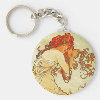 Alphonse Mucha Summer Key Chain