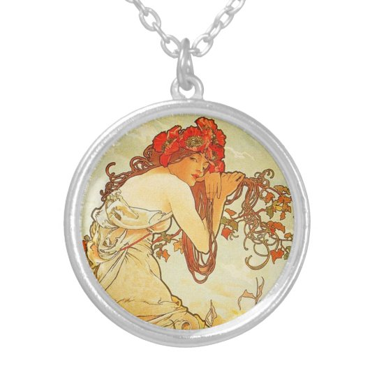 Alphonse Mucha Summer Necklace