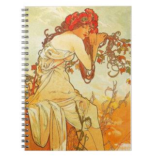 Alphonse Mucha Summer Notebook