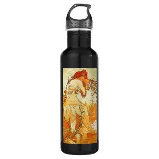 Alphonse Mucha Summer 24oz Water Bottle