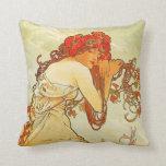 Alphonse Mucha Summer Pillow